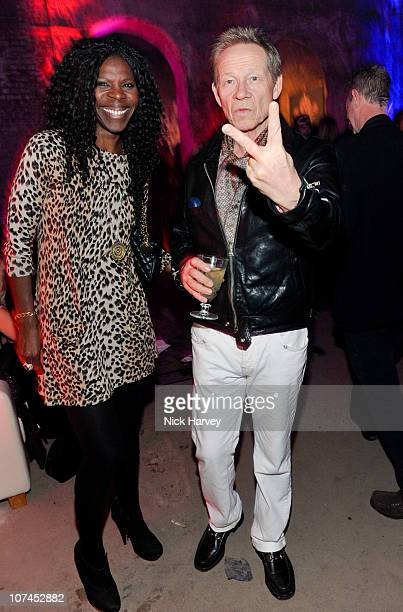 Paul Cook of the Sex Pistols and Jenni Cook attend the launch of Stephen Webster's jewellery collections 'The 7 Deadly Sins' and 'No Regrets' at Old...