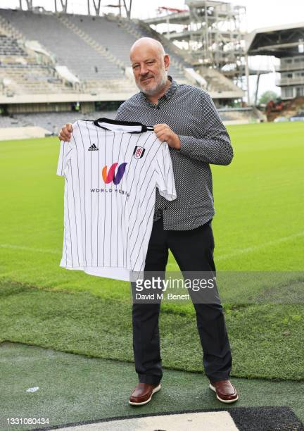 Paul Cooper attends a brunch to celebrate the partnership between World Mobile and Fulham FC at Craven Cottage on July 28, 2021 in London, England.