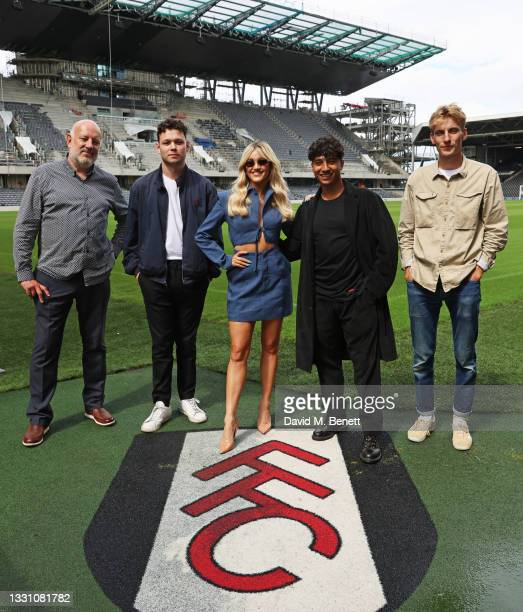 Paul Cooper, Sean Delaney, Ashley Roberts, Karim Zeroual and Charlie Cooper attend a brunch to celebrate the partnership between World Mobile and...