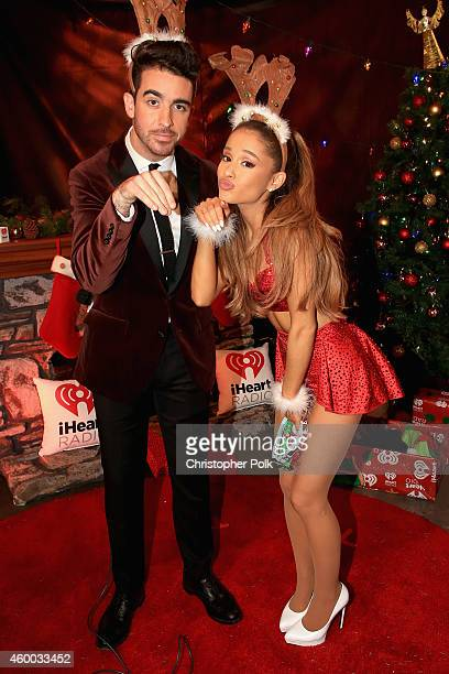 Paul Costabile and singer Ariana Grande attend KIIS FM's Jingle Ball 2014 powered by LINE at Staples Center on December 5 2014 in Los Angeles...