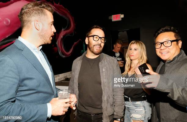 """Paul Costabile, Jeremy Piven, Amanda Lauren and Jimmy Shin attend """"Shindig"""" standup comedy show benefitting Color Of Change hosted by Jimmy Shin at..."""