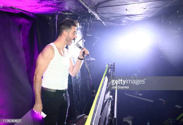 Paul Costabile speaks onstage during Bohemian Rhapsody's Get Loud Extravaganza at Whiskey a Go Go on February 12 2019 in Los Angeles California