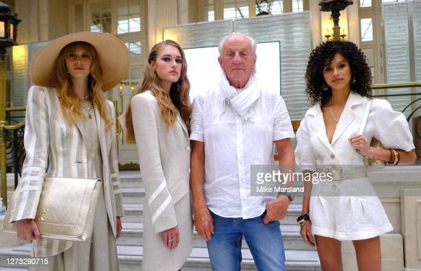 Paul Costelloe and models during the Paul Costelloe show during LFW September 2020 at The Waldorf London on September 18 2020 in London England