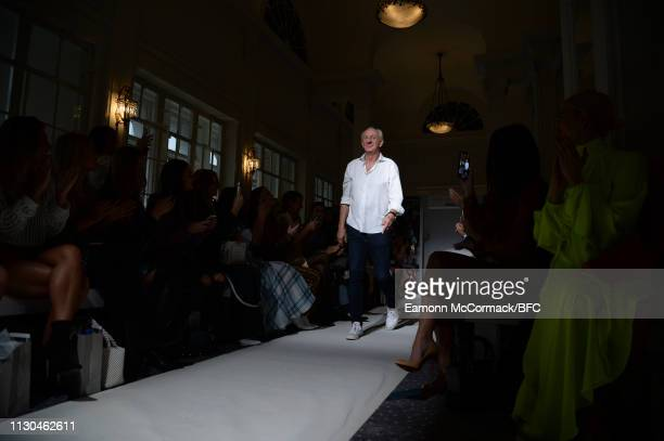 Paul Costelloe during the Paul Costelloe presentation during London Fashion Week February 2019 at the Simpsons in the Strand on February 18 2019 in...