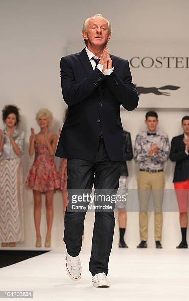Paul Costelloe walks the runway at Paul Costelloe S/S 2011 show at London Fashion Week at Somerset House on September 17 2010 in London England