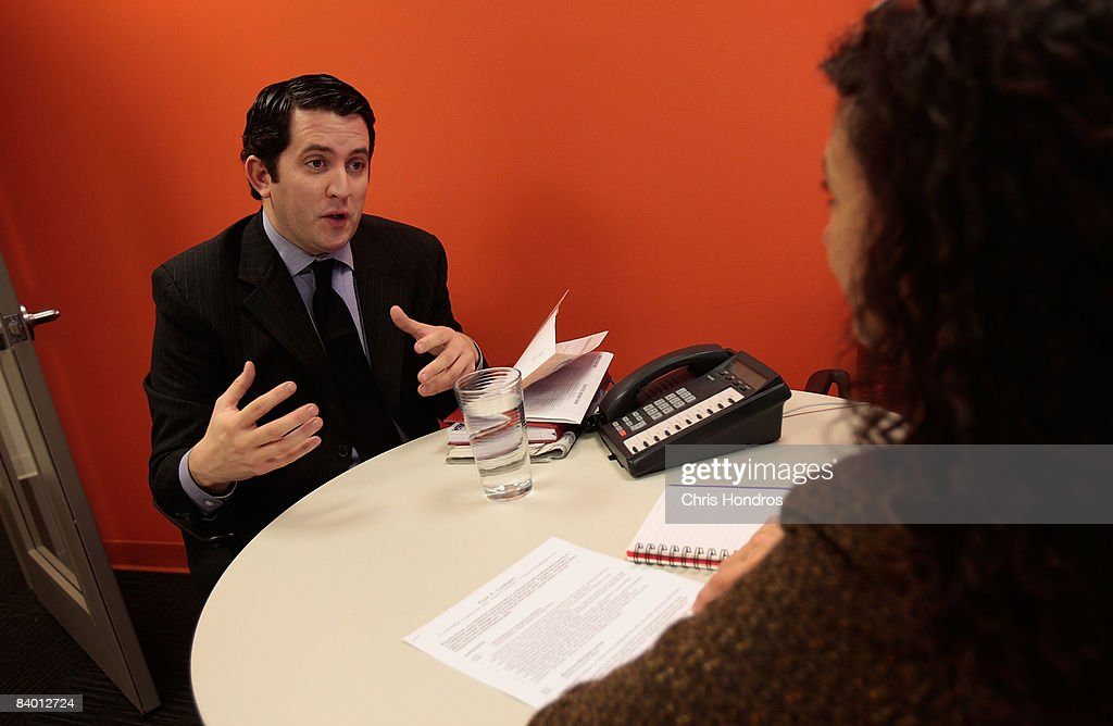 Unemployed Marketing Professional Searches For A Job : News Photo