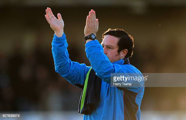 Paul Cox Manager of Barrow FC during the Emirates FA Cup Second Round match between Bristol Rovers and Barrow FC at the Memorial Stadium on December...