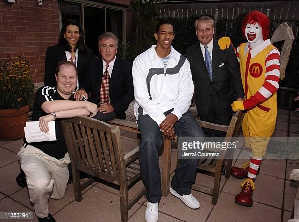 Paul 'Cubby' Bryant Karin Buchholz Pete Samaha Channing Frye Bill Sullivan and Ronald McDonald