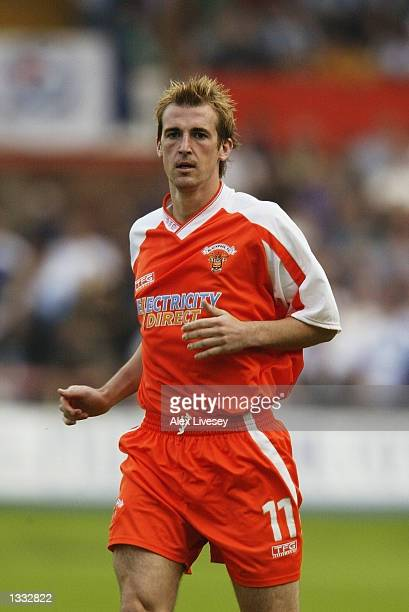 Paul Dalglish of Blackpool in action during the preseason friendly match between Blackpool and Blackburn Rovers at Bloomfield Road Blackpool6 August...
