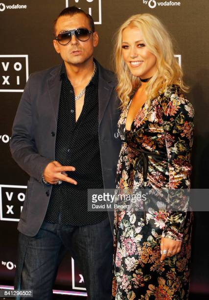 Paul Danan and Amelia Lily attend the VOXI launch party at Brick Lane Yard on August 31 2017 in London England