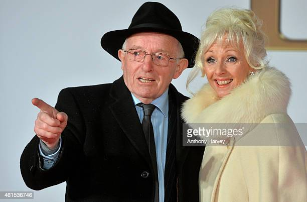 Paul Daniels and Debbie McGee attend the World Premiere of 'Kingsman The Secret Service' at Odeon Leicester Square on January 14 2015 in London...