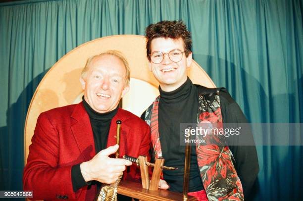 Paul Daniels magician attends the 40th anniversary of the Middlesbrough Magic Circle picture with local magician Phil Smith 23rd October 1994