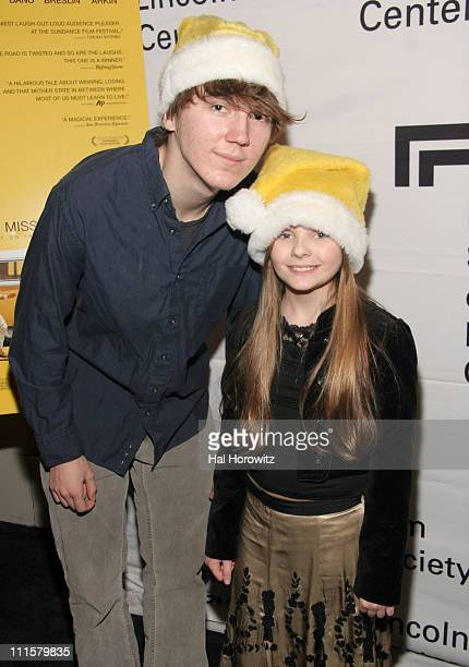 Paul Dano and Abigail Breslin during An Evening with Alan Arkin December 19 2006 at Walter Reade Theater in New York City New York United States