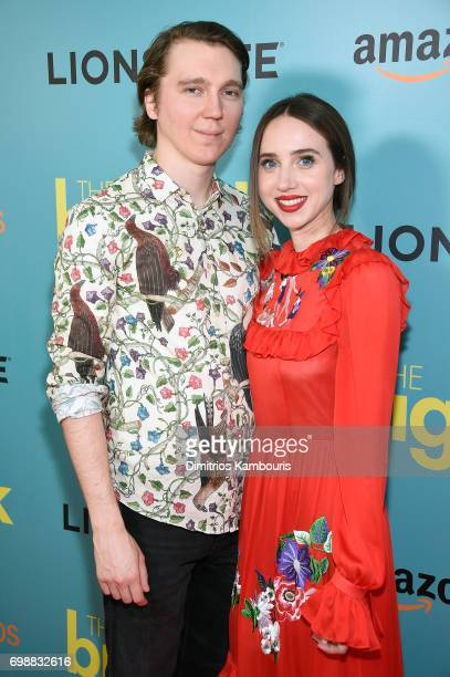 Paul Dano and Zoe Kazan attend 'The Big Sick' New York Premiere at The Landmark Sunshine Theater on June 20 2017 in New York City