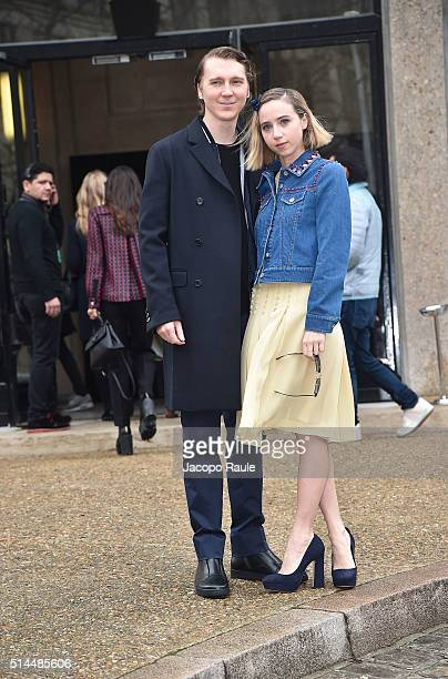 Paul Dano and Zoe Kazan attend the Miu Miu show as part of the Paris Fashion Week Womenswear Fall Winter 2016/2017 on March 9 2016 in Paris France