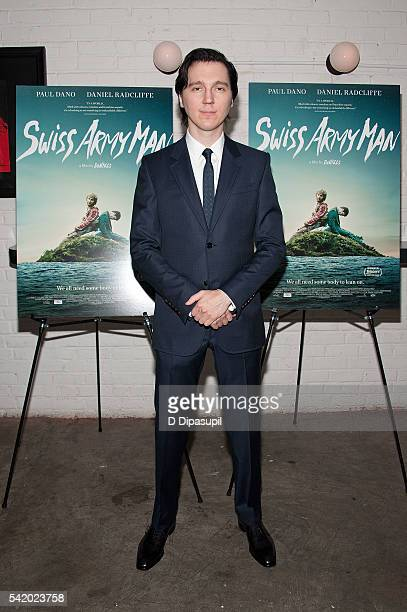 Paul Dano attends the 'Swiss Army Man' New York premiere at Metrograph on June 21 2016 in New York City