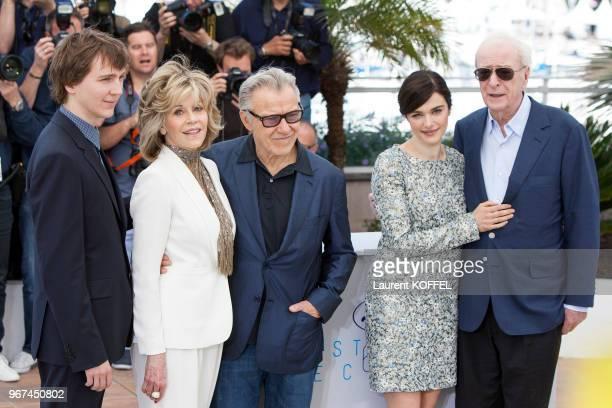 Paul Dano Jane Fonda Harvey Keitel Rachel Weisz et Sir Michael Caine lors du photocall du film Youth' pendant le 68eme Festival du Film Annuel au...