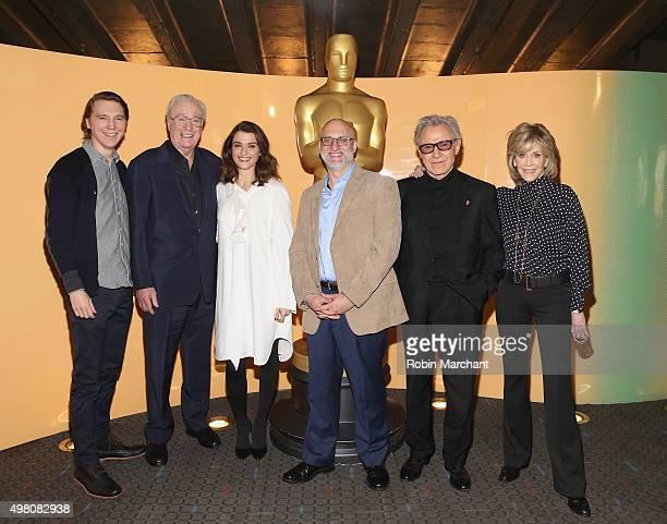 Paul Dano Michael Caine Rachel Weisz Joe Neumaier Harvey Keitel Jane Fonda attend The Academy Of Motion Picture Arts And Sciences Hosts An Official...