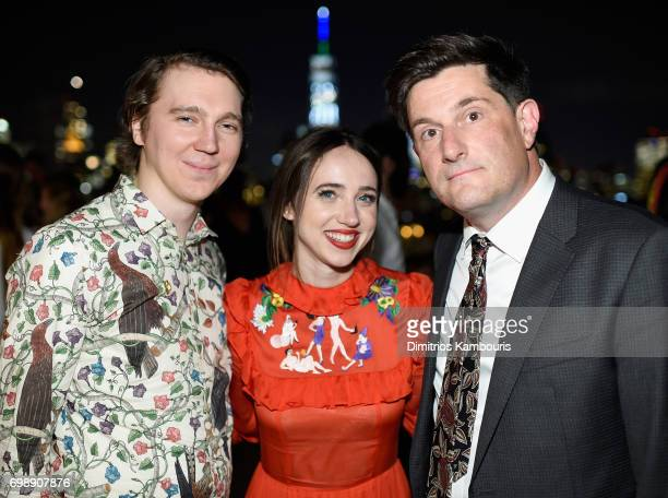 Paul Dano Zoe Kazan and director Michael Showalter attend 'The Big Sick' New York Premiere after party at The Roof on June 20 2017 in New York City