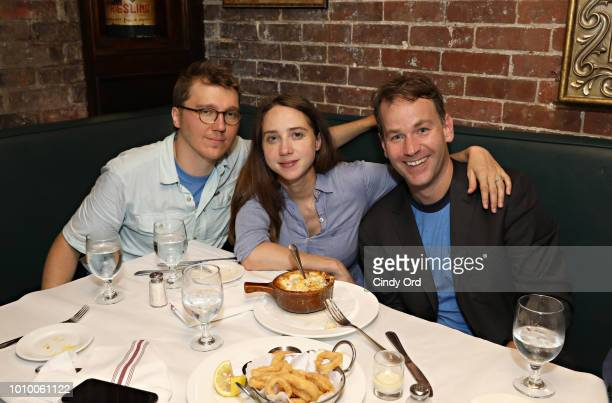 Paul Dano Zoe Kazan and Mike Birbiglia attend the opening night of Mike Birbiglia The New One after party on August 2 2018 in New York City