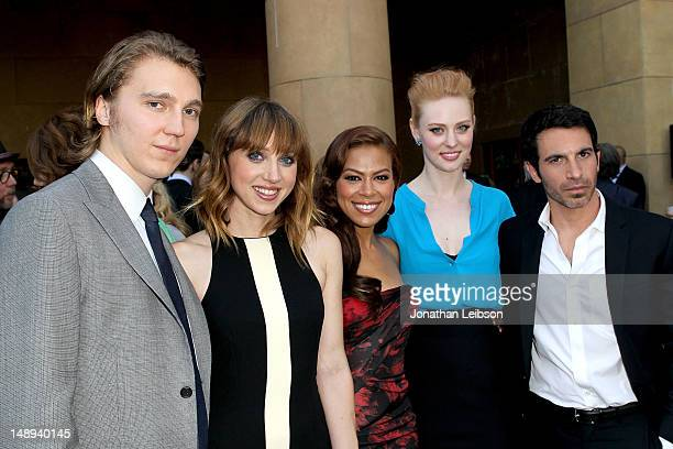 Paul Dano Zoe Kazan Toni Trucks Deborah Ann Woll and Chris Messina attend the Ruby Sparks Los Angeles Premiere at American Cinematheque's Egyptian...