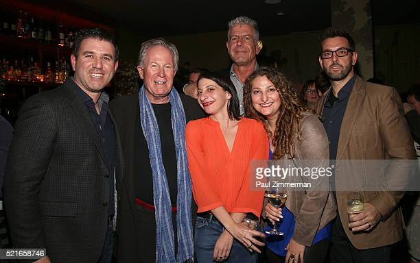 Paul Davidson Jeremiah Tower Danielle DiGiacomo Anthony Bourdain Julie Dansker and Brad Navin attend the CNN Films and ZPZ Production premiere party...