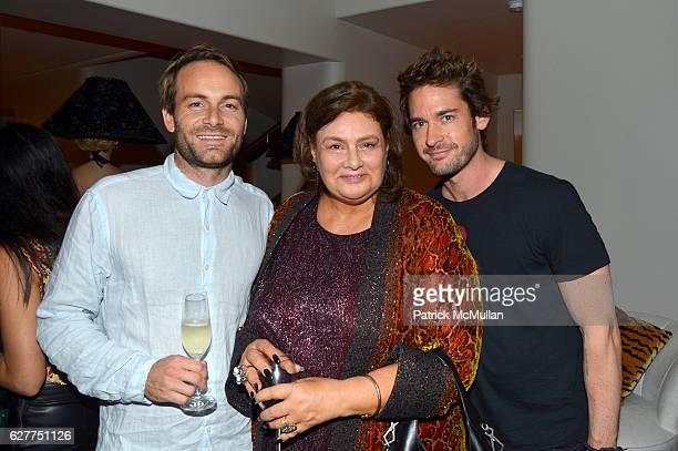 Paul Davies Krystyna Gmurzynska and Will Kemp attend Galerie Gmurzynska Sir Norman Rosenthal and Claude RuizPicasso Dinner at Art Basel Miami Beach...