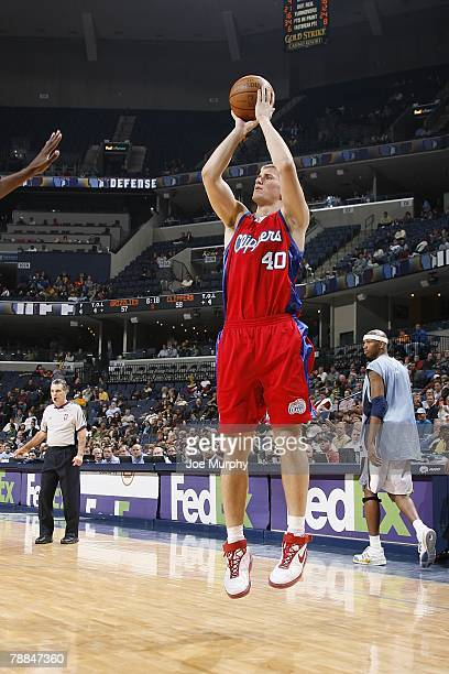 Paul Davis of the Los Angeles Clippers shoots a jump shot against the Memphis Grizzlies on December 14 2007 at the FedExForum in Memphis Tennessee...