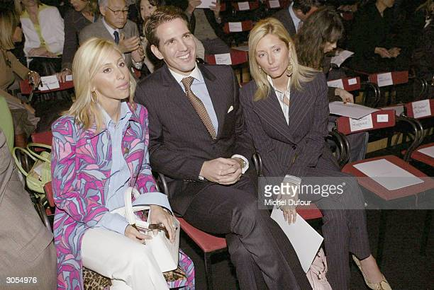 Paul de Grece with his wife Chantal Miller and Alexandra von Furstenberg at the Valentino readytowear FallWinter collection 20042005 fashion show...