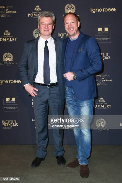 Paul de Sinety and Johann von Buelow attends the 'Soiree Francaise Du Cinema' during the 67th Berlinale International Film Festival Berlin at on...