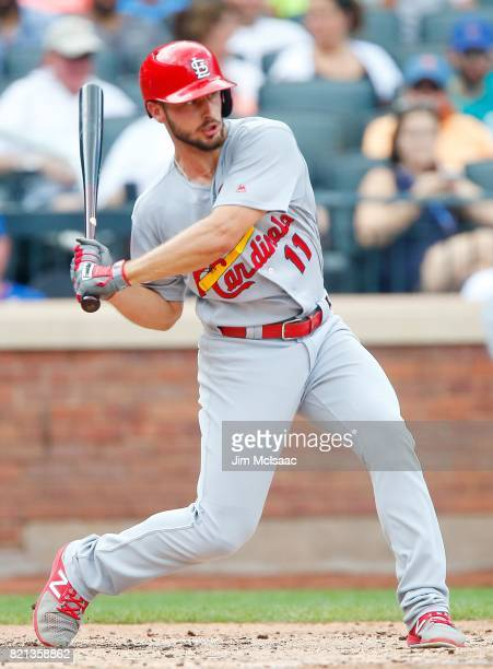 Paul DeJong of the St Louis Cardinals in action against the New York Mets at Citi Field on July 20 2017 in the Flushing neighborhood of the Queens...