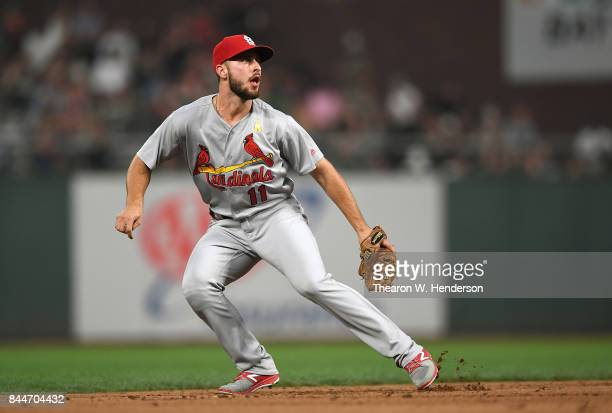 Paul DeJong of the St Louis Cardinals in action against the San Francisco Giants in the bottom of the second inning at ATT Park on September 1 2017...
