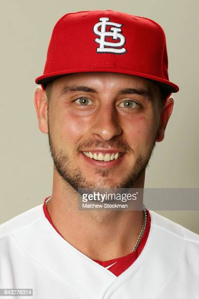 Paul DeJong poses for a portrait during St Louis Cardinals Photo Day at Roger Dean Stadium on February 20 2017 in Jupiter Florida