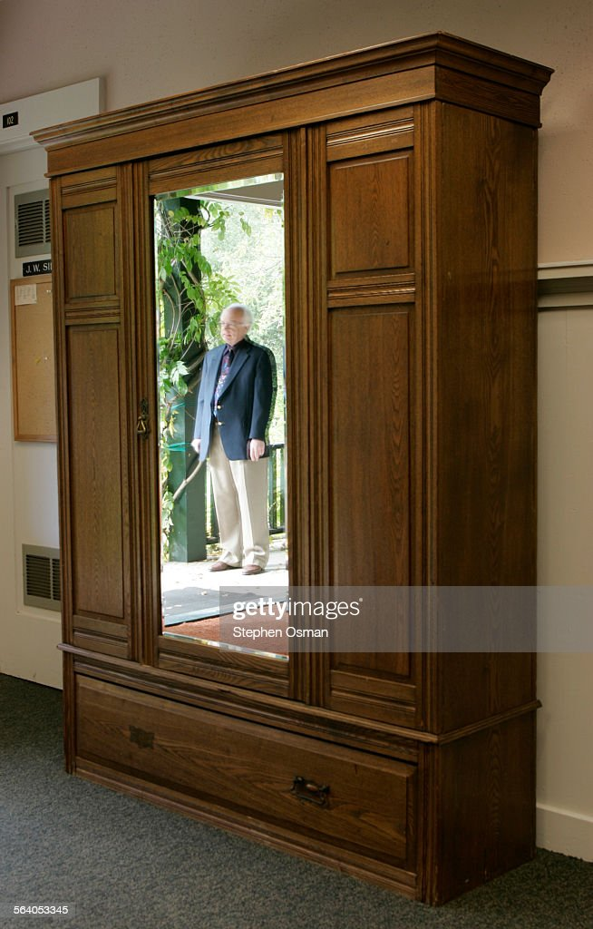 Paul Delaney, Chair Of The English Department At Westmont College Is  Reflected In The Mirror