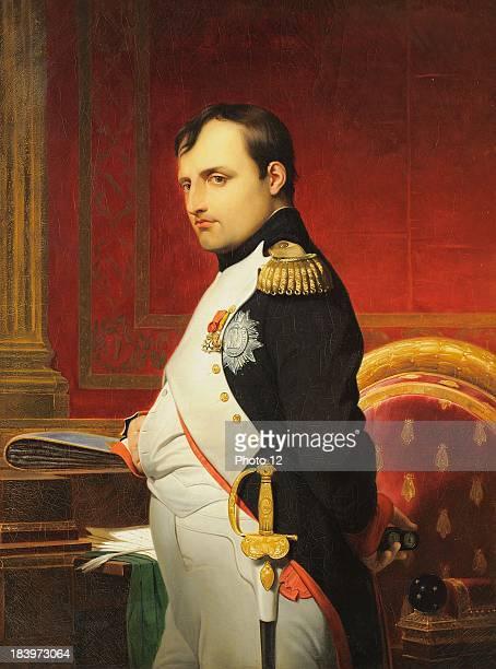 Paul Delaroche Ecole francaiseDelaroche Portrait of Napoleon I in his officeAround 1838Oil on canvas Alberto Ricci Photo
