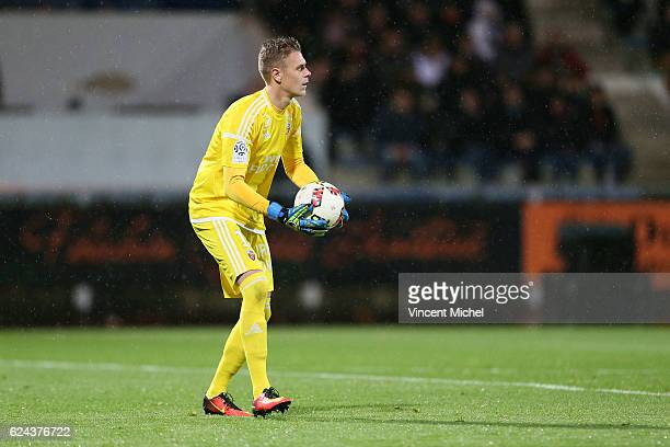 Paul Delecroix of Lorient during the Ligue 1 match between Fc Lorient and As Monaco at Stade du Moustoir on November 18 2016 in Lorient France