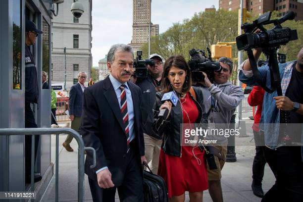 Paul DerOhannesian an attorney representing alleged sex cult leader Keith Raniere arrives at the US District Court for the Eastern District of New...