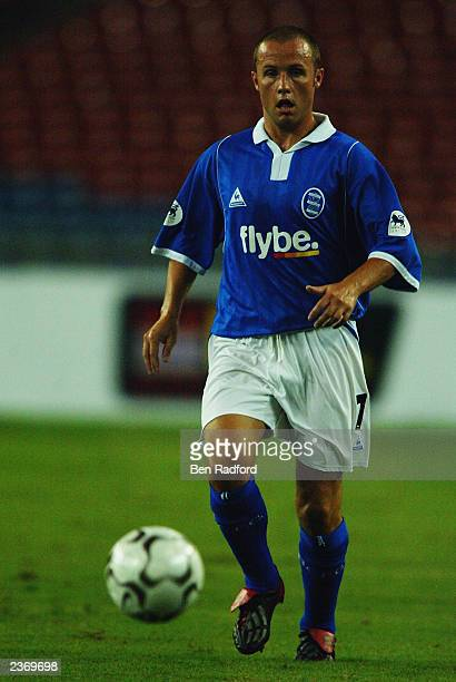 Paul Devlin of Birmingham City makes a break forward during the FA Premier League Asia Cup match between Malaysia and Birmingham City held on July 26...