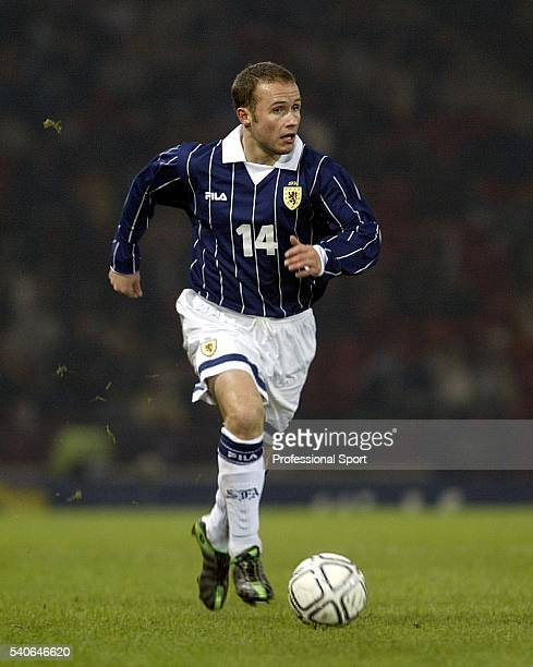 Paul Devlin of Scotland in action during the International Friendly match between Scotland and Austria on April 30 2003 at Hampden Park in Glasgow...