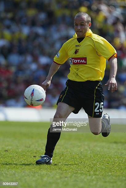 Paul Devlin of Watford during the Nationwide Division One match between Watford and Norwich City at Vicarage Road on April 24 2004 in Watford England