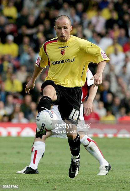 Paul Devlin of Watford in action during the Coca Cola Championship match between Watford and Sheffield United at Vicarage Road on September 17 2004...