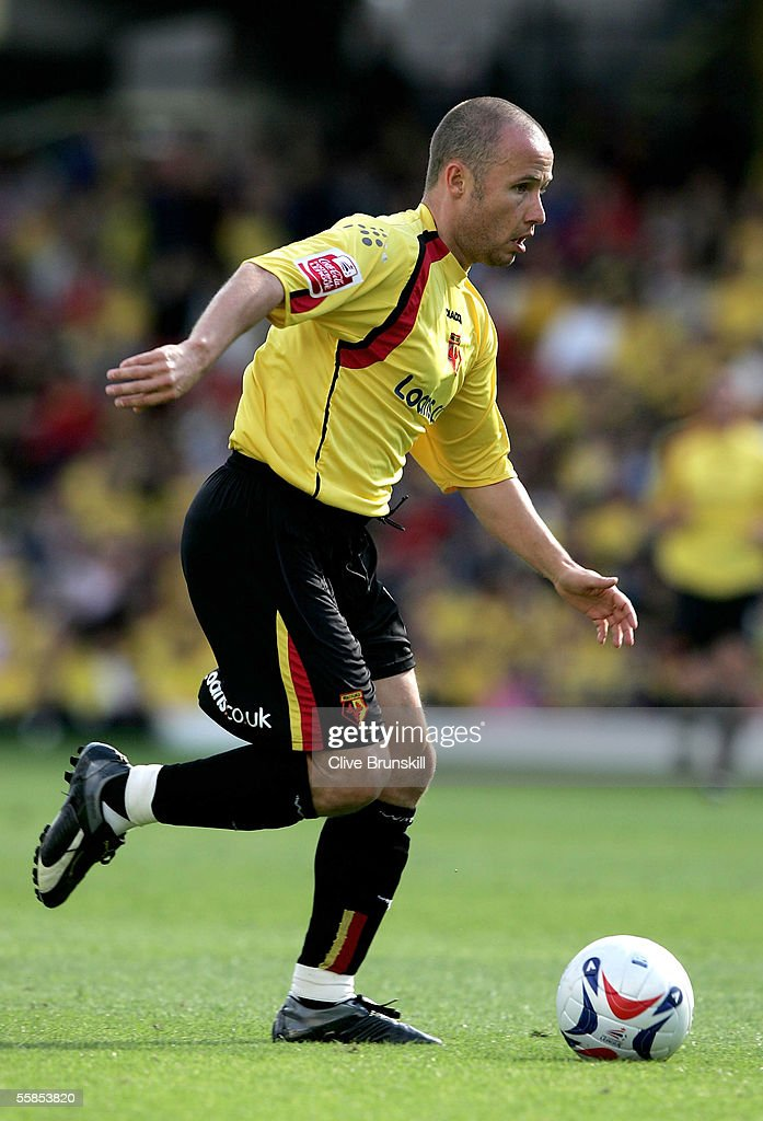 Paul Devlin of Watford in action during the Coca Cola Championship match between Watford and Sheffield United at Vicarage Road on September 17, 2004 in Watford, England.