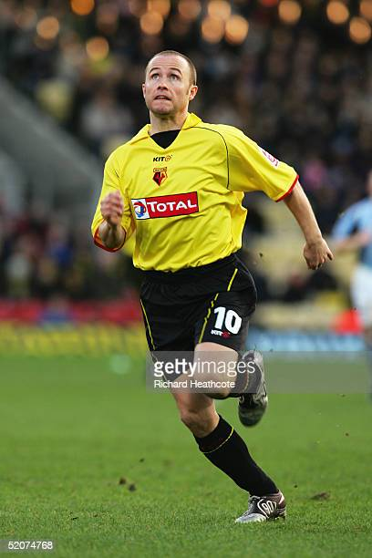 Paul Devlin of Watford in action during the FA Cup Third Round match between Watford and Fulham held at Vicarage Road on January 8 2005 in Watford...