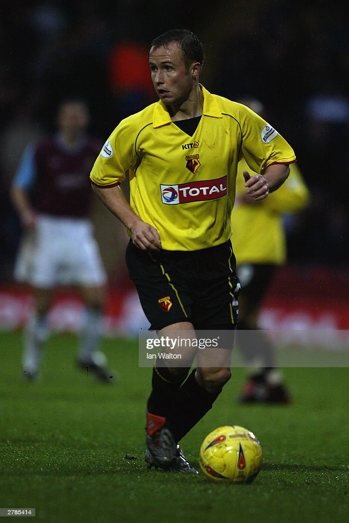 Paul Devlin of Watford in action during the Nationwide Division One match between Watford and West Ham United on November 22, 2003 at Vicarage Road in Watford, England. The match ended in a 0-0 draw.