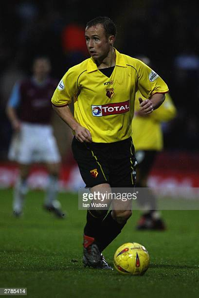 Paul Devlin of Watford in action during the Nationwide Division One match between Watford and West Ham United on November 22 2003 at Vicarage Road in...
