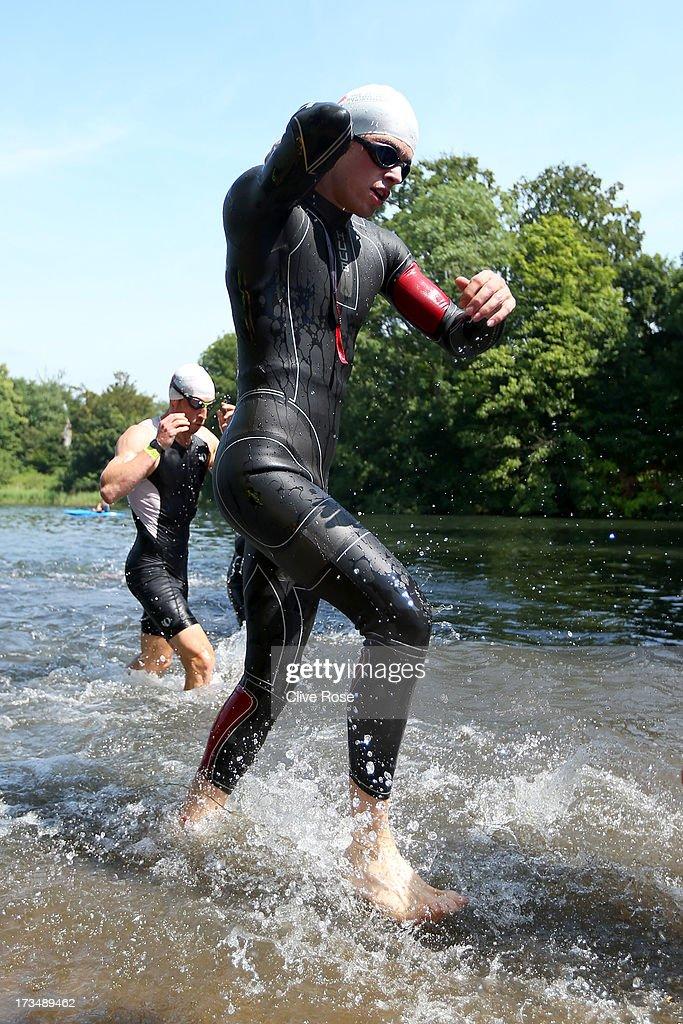 The Jenson Button Trust Triathlon : News Photo