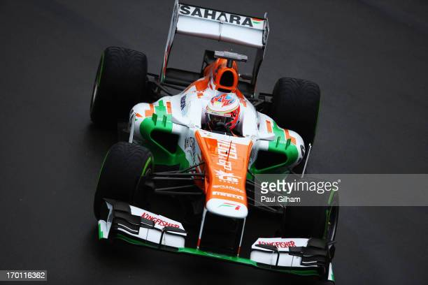 Paul di Resta of Great Britain and Force India drives during practice for the Canadian Formula One Grand Prix at the Circuit Gilles Villeneuve on...