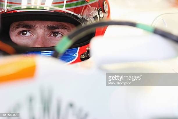 Paul di Resta of Great Britain and Force India prepares to drive during the final practice session prior to qualifying for the Brazilian Formula One...