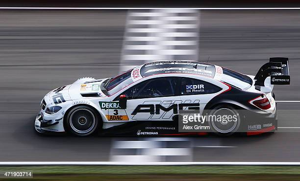 Paul di Resta of Great Britain and Mercedes HWA drives during a training session prior to the qualifying for the first round of the DTM 2015 German...