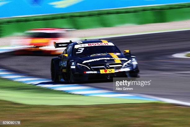 Paul di Resta of Great Britain and Mercedes team HWA drives during the free practice session ahead of race 2 of the DTM German Touring Car Hockenheim...